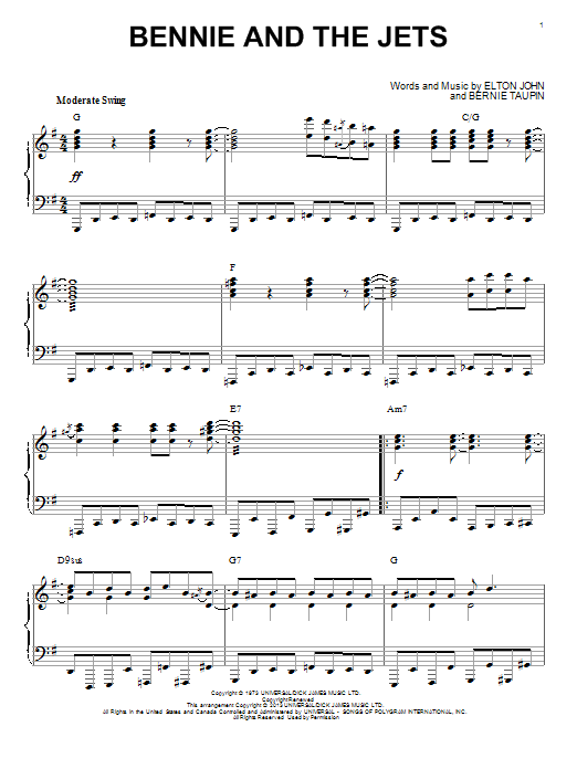 Elton John Bennie And The Jets [Jazz version] (arr. Brent Edstrom) sheet music notes and chords. Download Printable PDF.