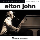 Download Elton John 'Blue Eyes [Jazz version] (arr. Brent Edstrom)' Printable PDF 4-page score for Pop / arranged Piano Solo SKU: 151625.
