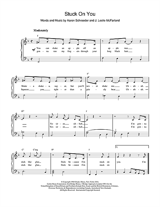 Elvis Presley Stuck On You sheet music notes and chords. Download Printable PDF.