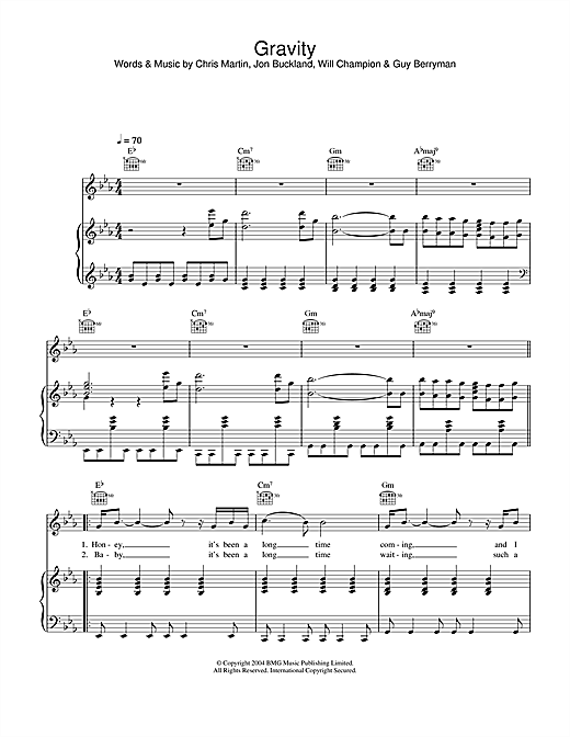 Embrace Gravity sheet music notes and chords