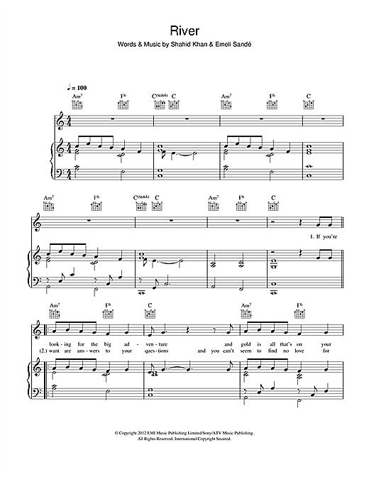 Emeli Sandé River sheet music notes and chords. Download Printable PDF.
