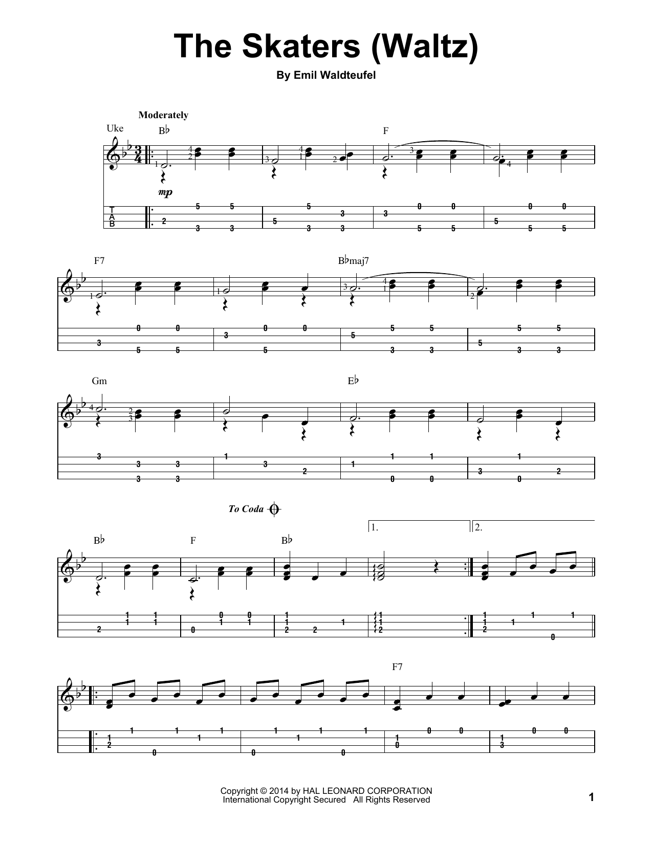 Emil Waldteufel The Skaters (Waltz) sheet music notes and chords. Download Printable PDF.