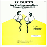 Download or print Emilson 12 Duets For The Intermediate Snare Drummer Sheet Music Printable PDF 25-page score for Concert / arranged Percussion Ensemble SKU: 124963.