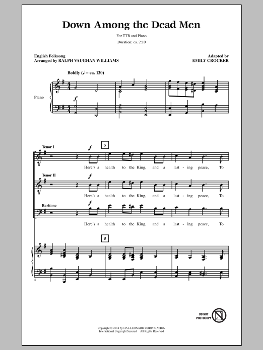 Emily Crocker Down Among The Dead Men sheet music notes and chords. Download Printable PDF.