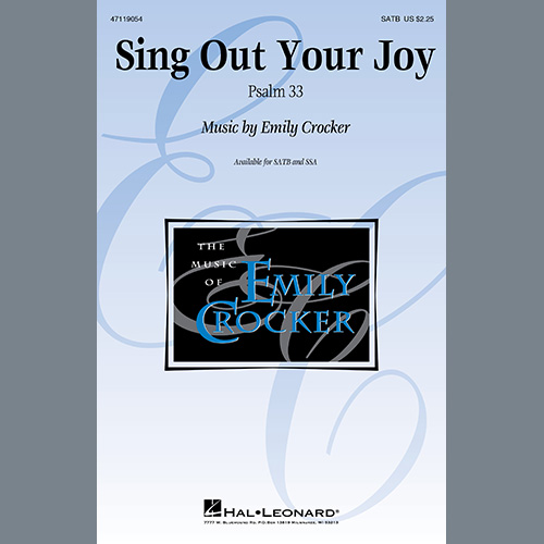 Easily Download Emily Crocker Printable PDF piano music notes, guitar tabs for SATB Choir. Transpose or transcribe this score in no time - Learn how to play song progression.