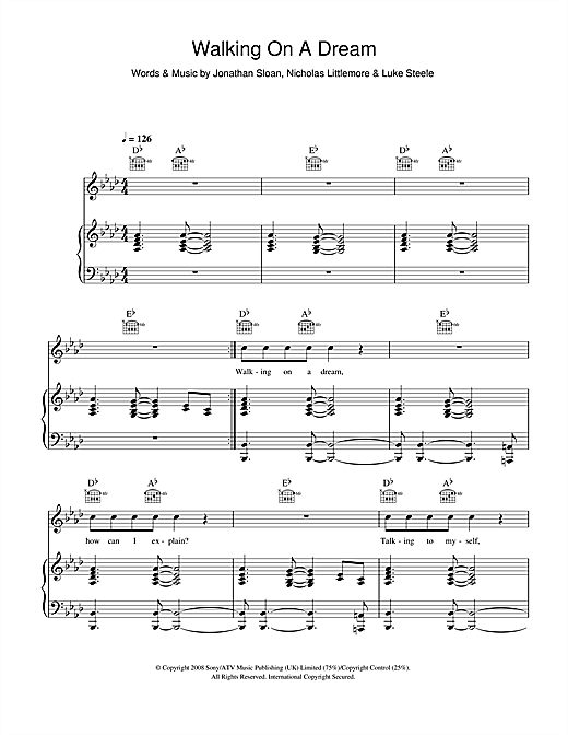 Empire Of The Sun Walking On A Dream sheet music notes and chords. Download Printable PDF.