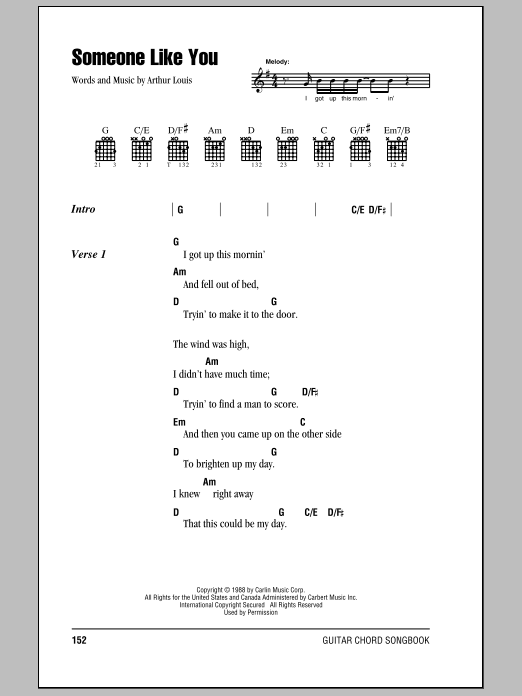 Eric Clapton Someone Like You Sheet Music Notes Chords