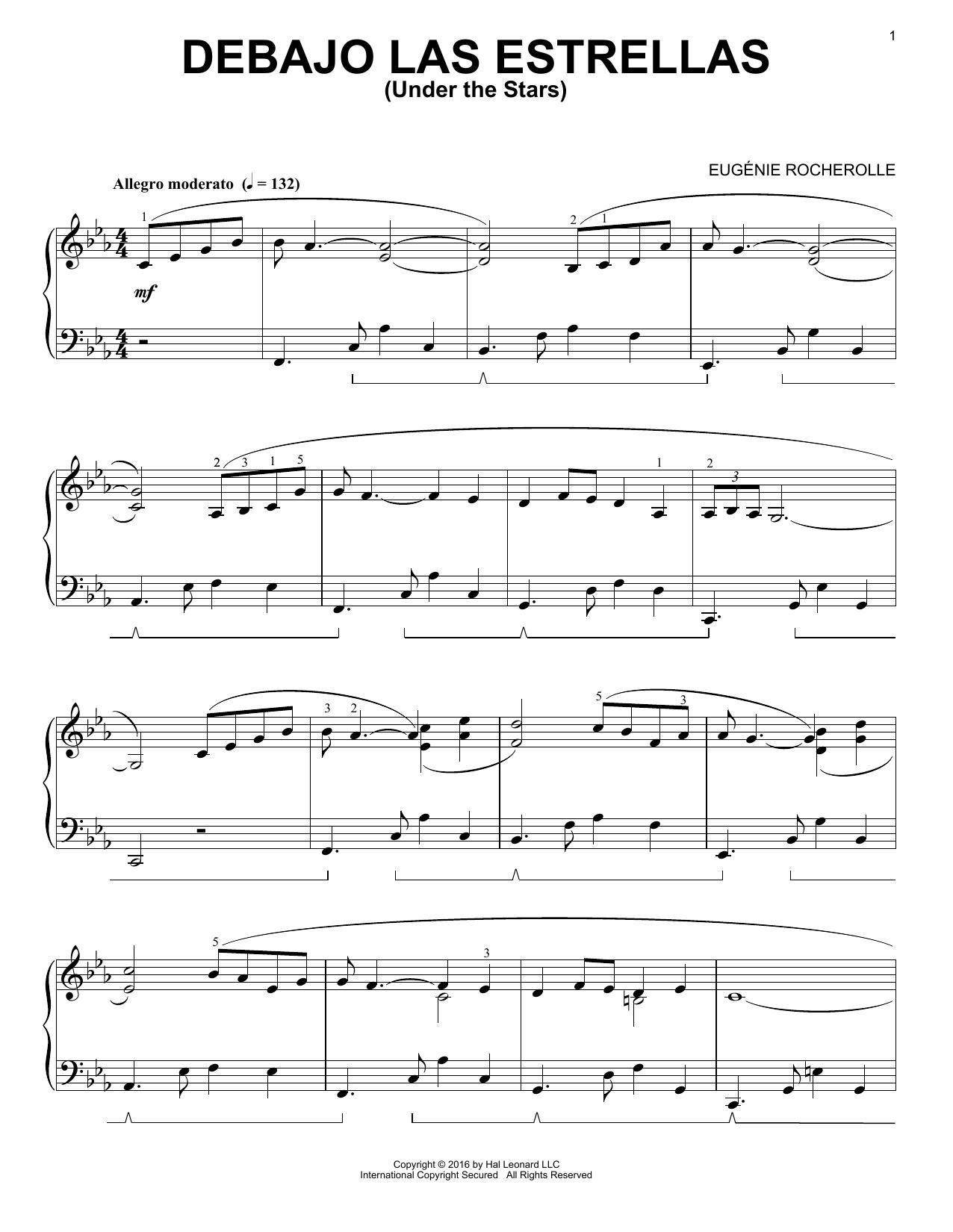 Eugénie Rocherolle Debajo Las Estrellas sheet music notes and chords