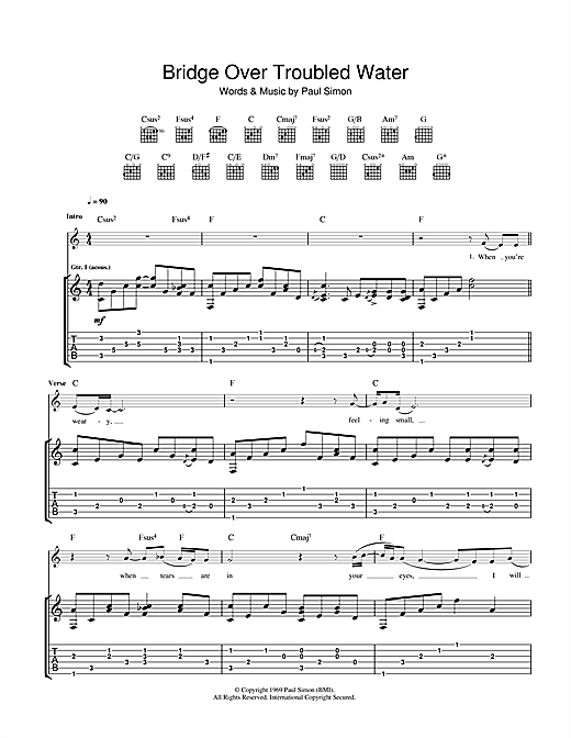 Eva Cassidy Bridge Over Troubled Water sheet music notes and chords. Download Printable PDF.
