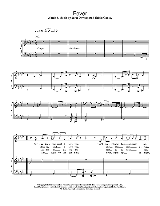 Eva Cassidy Fever sheet music notes and chords. Download Printable PDF.