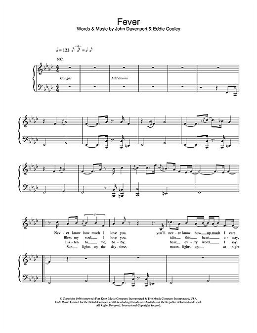 Eva Cassidy Fever sheet music notes and chords