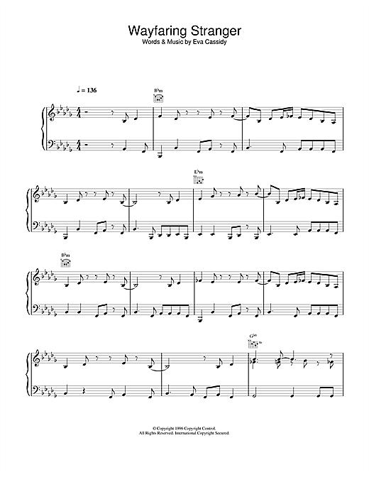 Eva Cassidy Wayfaring Stranger sheet music notes and chords. Download Printable PDF.