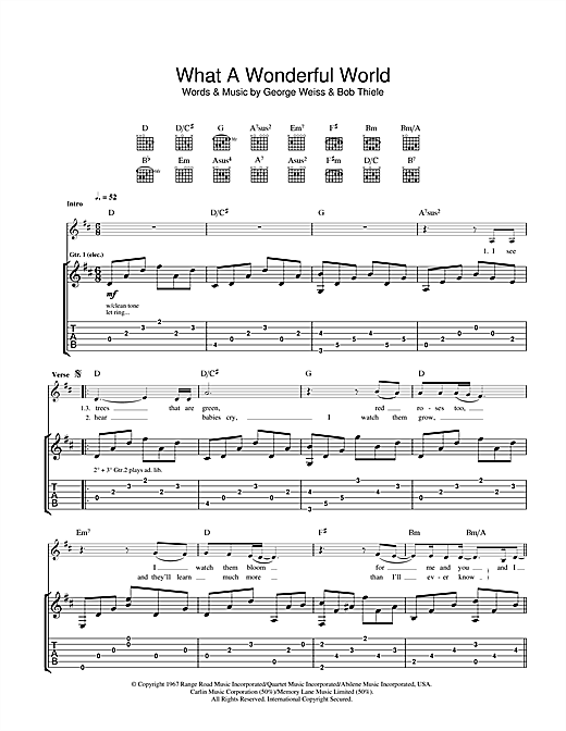 Eva Cassidy What A Wonderful World sheet music notes and chords. Download Printable PDF.