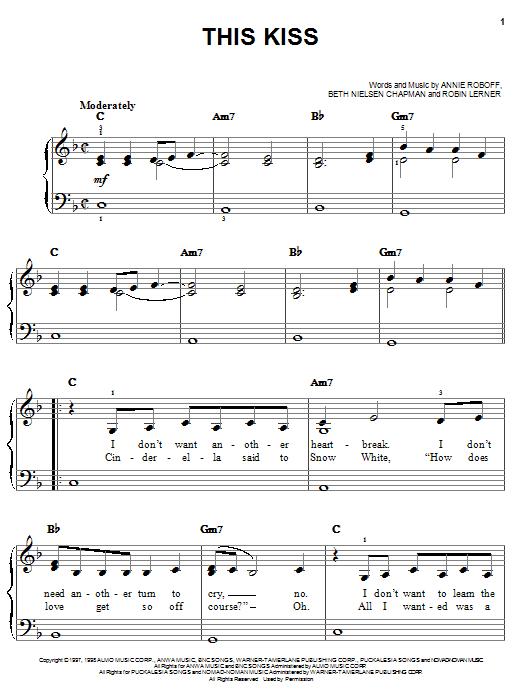 Faith Hill This Kiss sheet music notes and chords