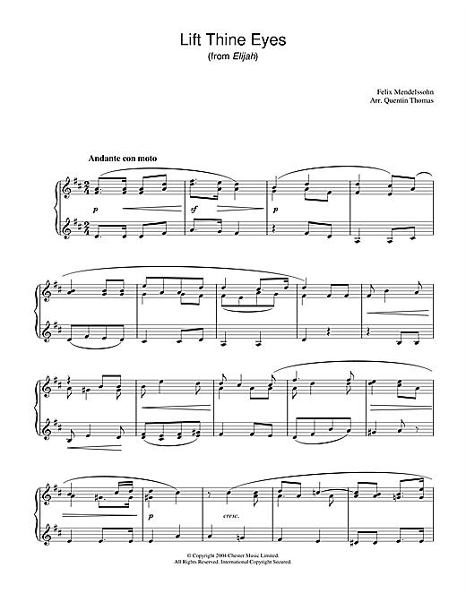 Felix Mendelssohn Lift Thine Eyes (from Elijah) sheet music notes and chords. Download Printable PDF.