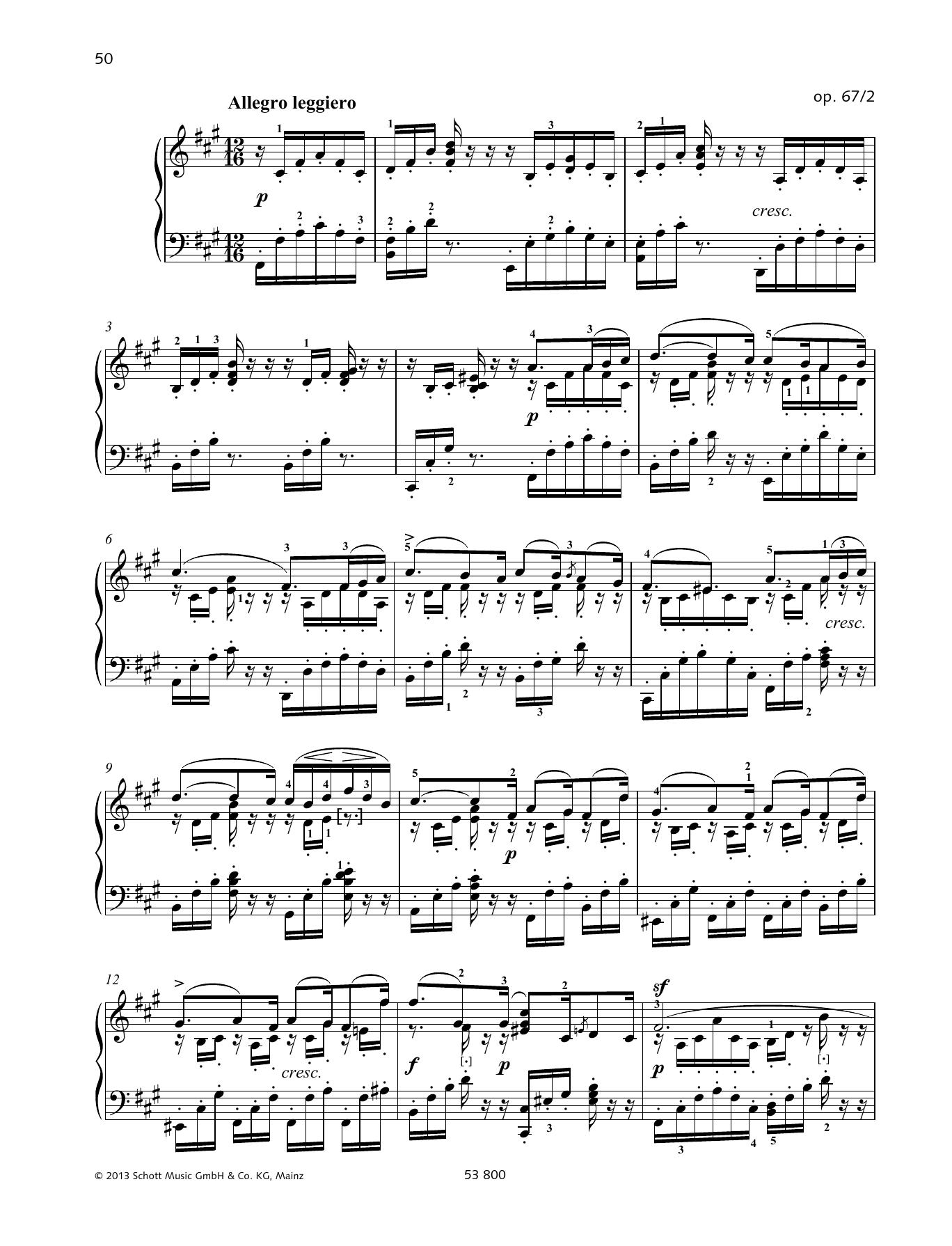 Felix Mendelssohn Bartholdy Allegro leggiero sheet music notes and chords. Download Printable PDF.