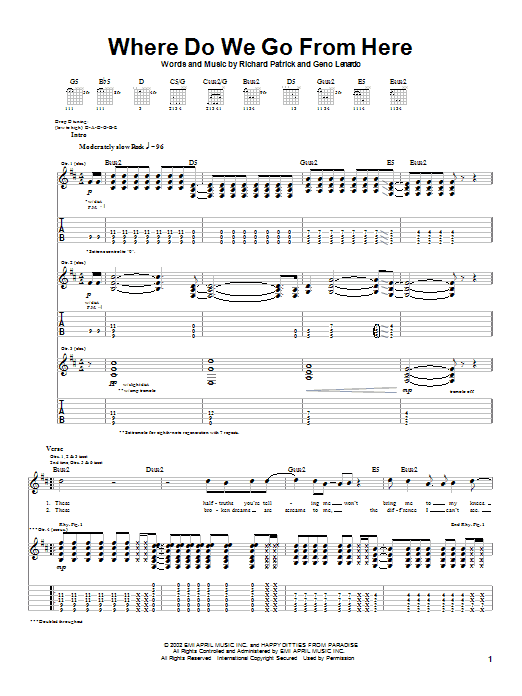 Filter Where Do We Go From Here sheet music notes and chords. Download Printable PDF.