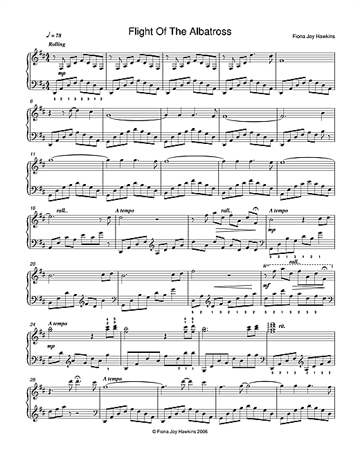 Fiona Joy Flight Of The Albatross sheet music notes and chords. Download Printable PDF.