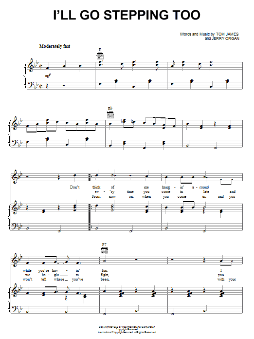 Flatt & Scruggs I'll Go Stepping Too sheet music notes and chords. Download Printable PDF.