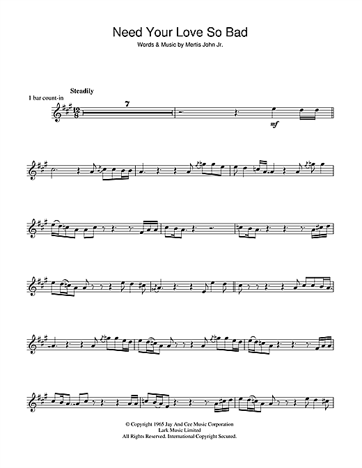 Fleetwood Mac Need Your Love So Bad sheet music notes and chords