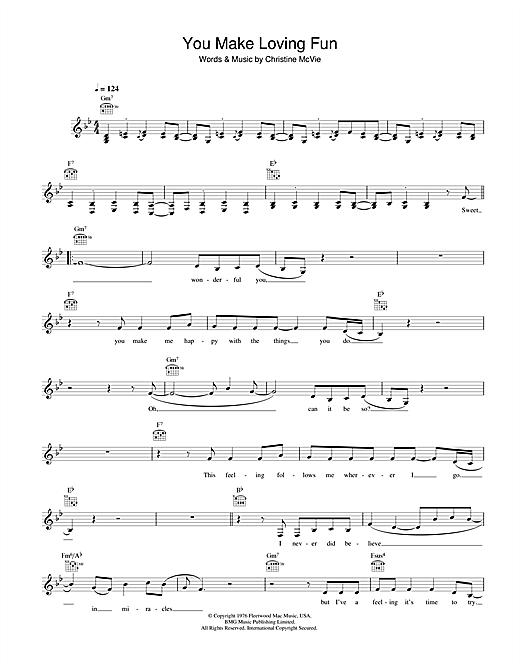 Fleetwood Mac You Make Loving Fun sheet music notes and chords. Download Printable PDF.