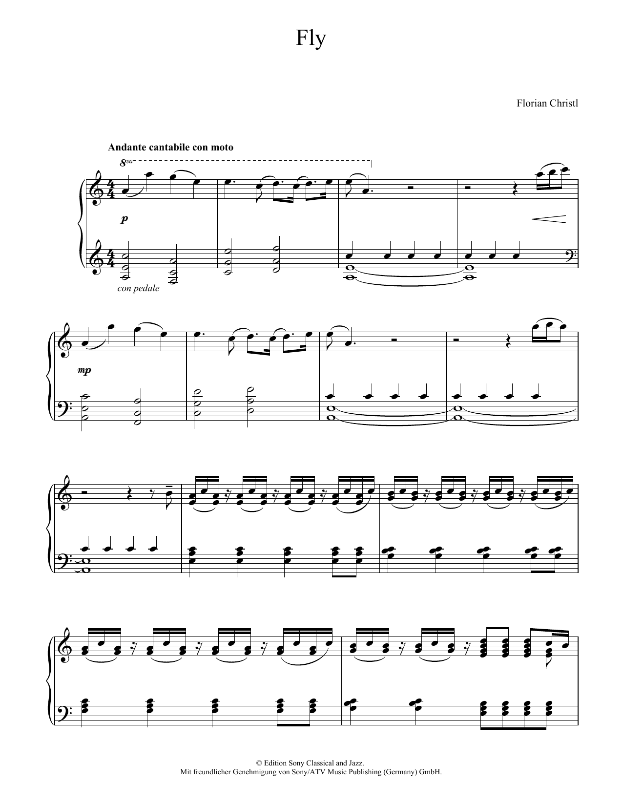 Florian Christl Fly sheet music notes and chords