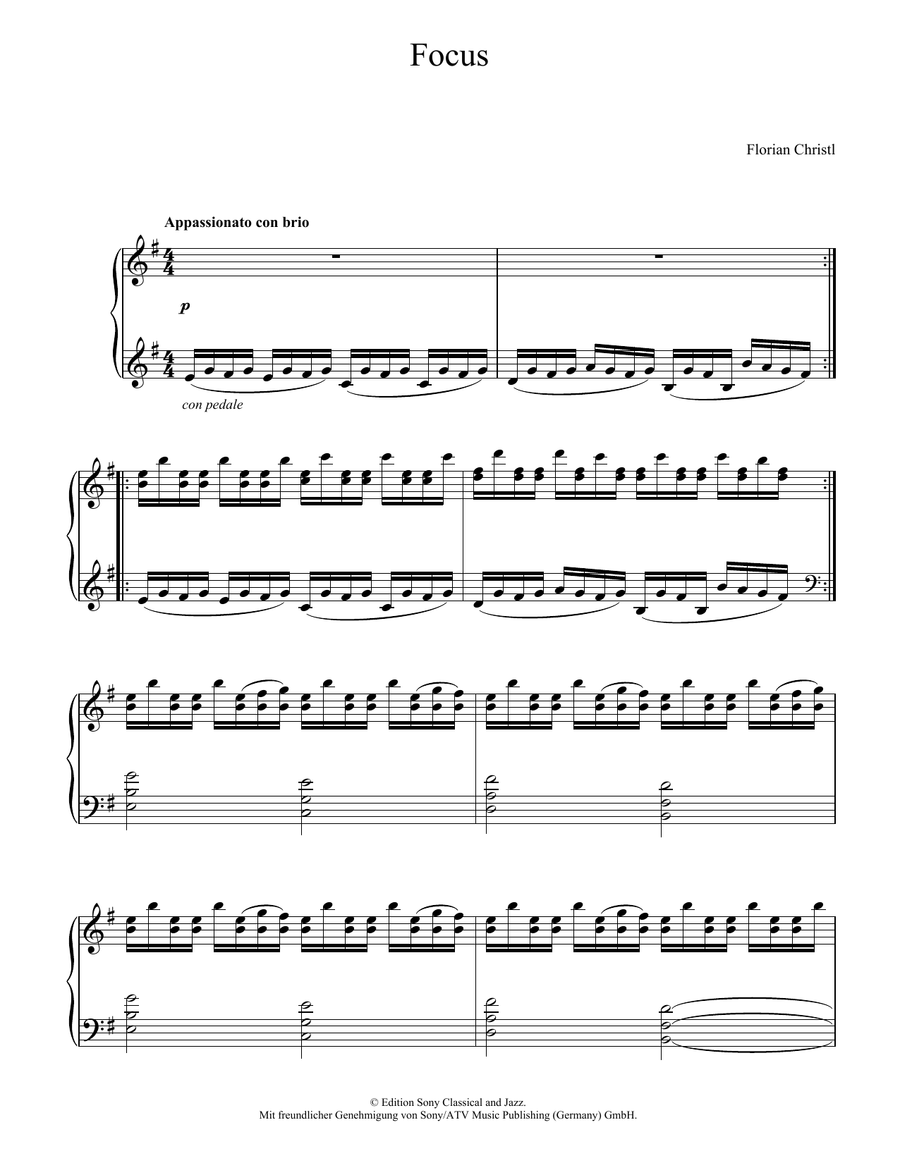 Florian Christl Focus sheet music notes and chords