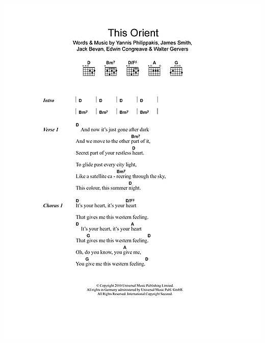 Foals This Orient sheet music notes and chords. Download Printable PDF.
