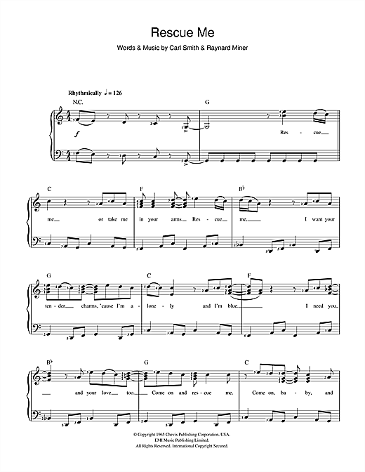 Fontella Bass Rescue Me sheet music notes and chords