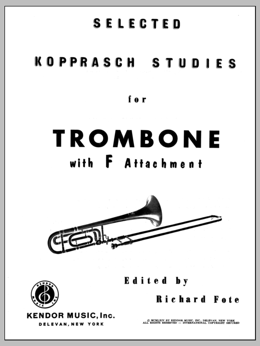 Fote Selected Kopprasch Studies sheet music notes and chords. Download Printable PDF.
