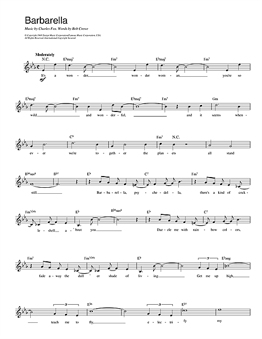 Fox And Crewe Barbarella sheet music notes and chords