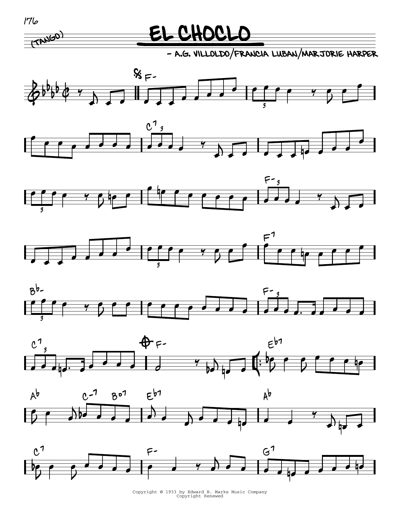 Francia Luban (Spanish) El Choclo sheet music notes and chords. Download Printable PDF.