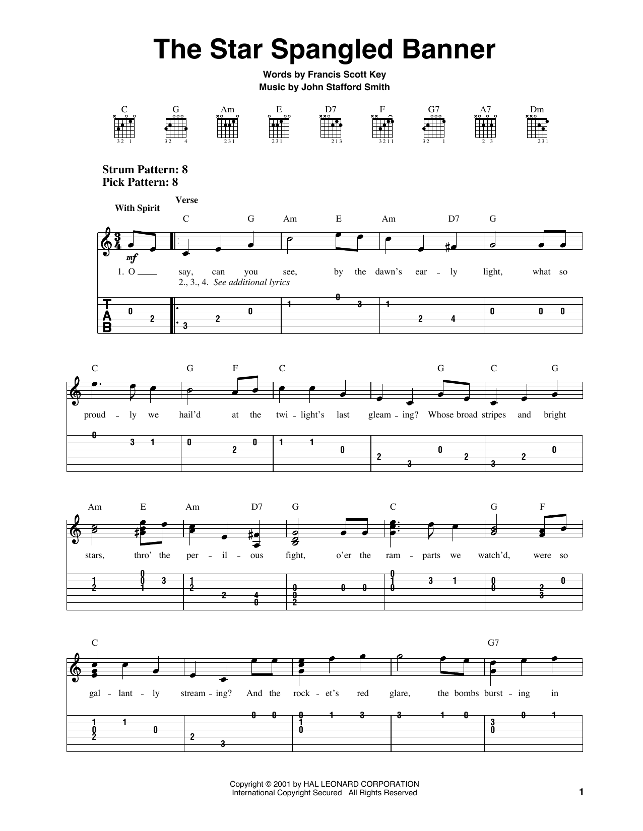 Francis Scott Key The Star Spangled Banner Sheet Music Pdf Notes Chords Patriotic Score Piano Solo Download Printable Sku 23716