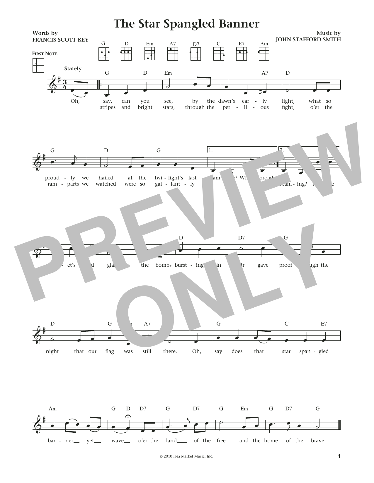Francis Scott Key The Star Spangled Banner From The Daily Ukulele Arr Liz And Jim Beloff Sheet Music Pdf Notes Chords Holiday Score Ukulele Download Printable Sku 184104