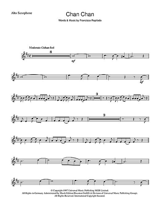 Francisco Repilado Chan Chan sheet music notes and chords. Download Printable PDF.