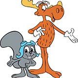 Download or print Frank Comstock Rocky & Bullwinkle Sheet Music Printable PDF 2-page score for Children / arranged Big Note Piano SKU: 403888.