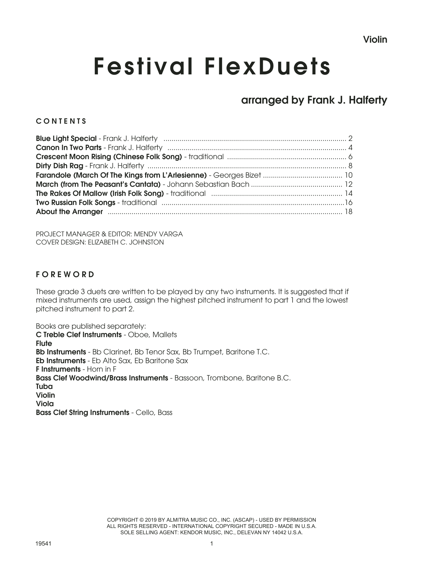 Frank J. Halferty Festival FlexDuets - Violin sheet music notes and chords. Download Printable PDF.