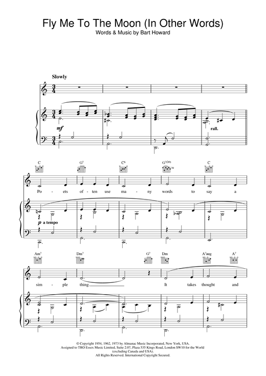 Diana Krall Fly Me To The Moon (In Other Words) sheet music notes and chords. Download Printable PDF.