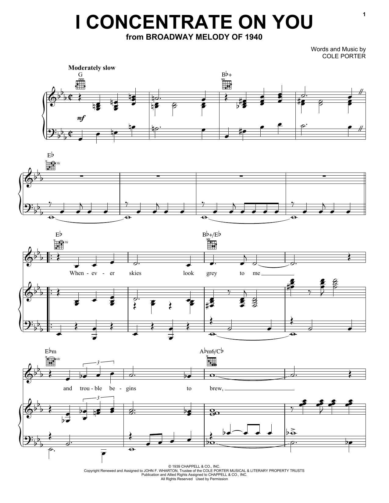 Frank Sinatra I Concentrate On You sheet music notes and chords