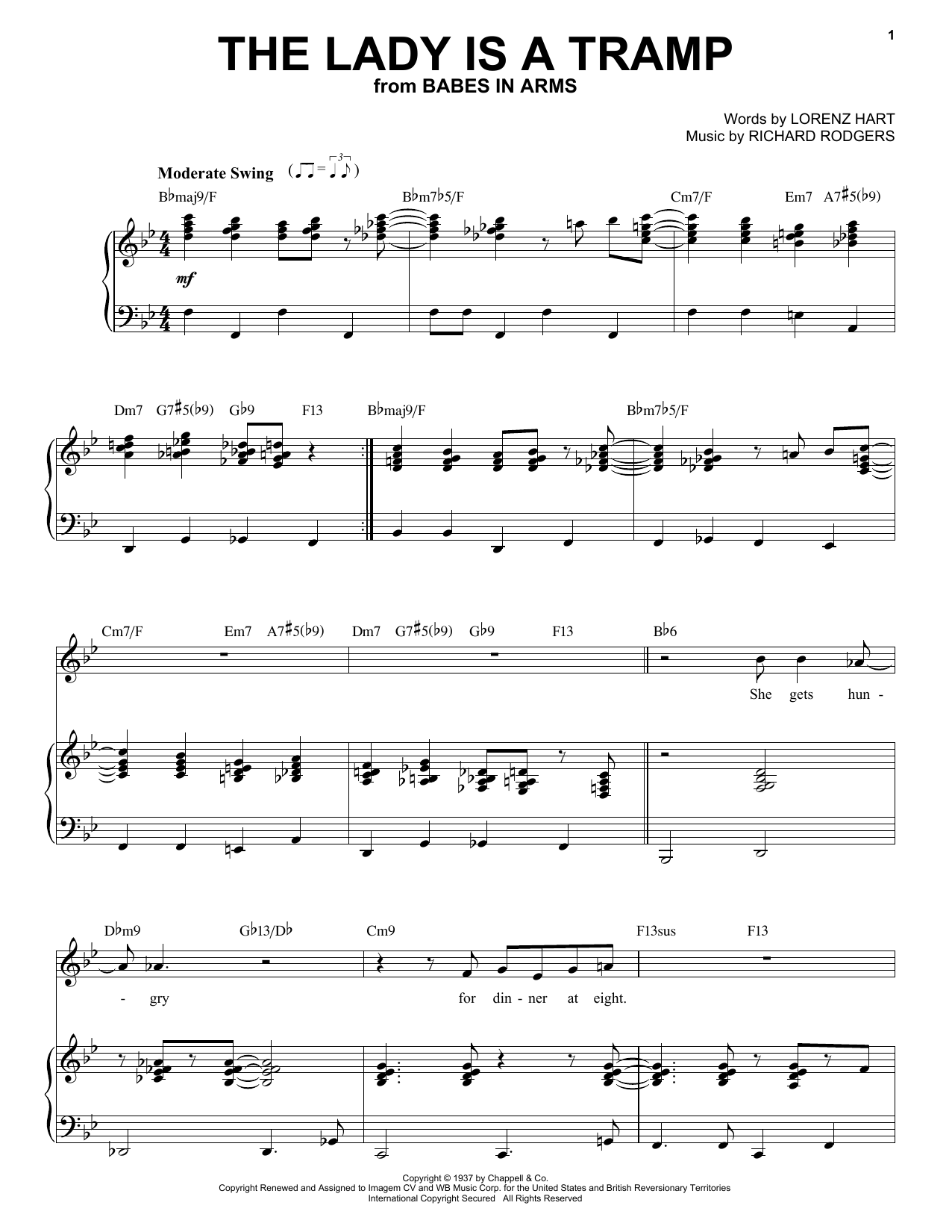 Frank Sinatra The Lady Is A Tramp sheet music notes and chords. Download Printable PDF.