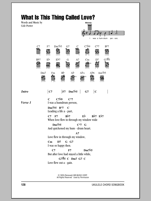 Frank Sinatra What Is This Thing Called Love? sheet music notes and chords. Download Printable PDF.
