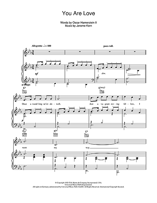 Frank Sinatra You Are Love sheet music notes and chords. Download Printable PDF.