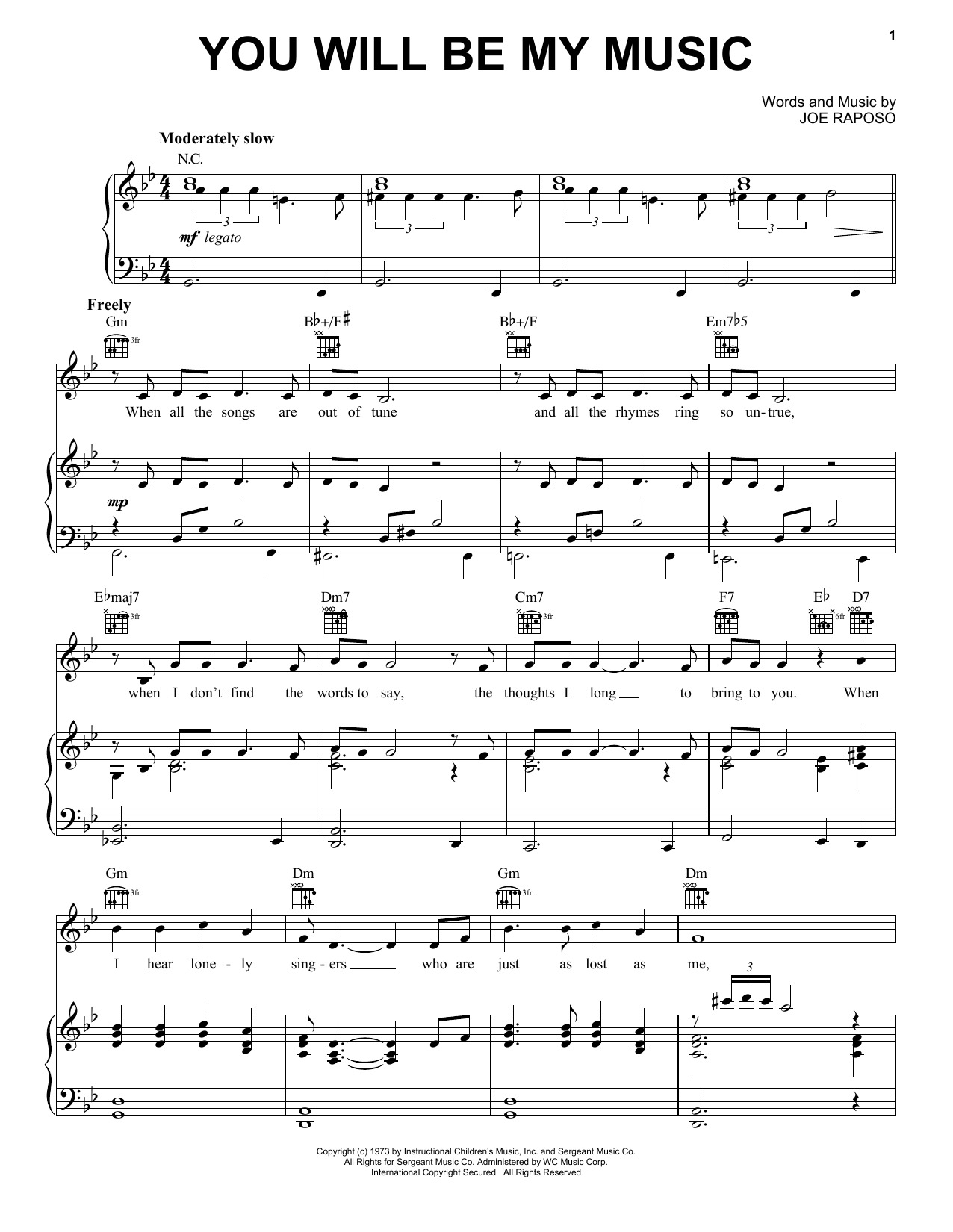 Frank Sinatra You Will Be My Music sheet music notes and chords