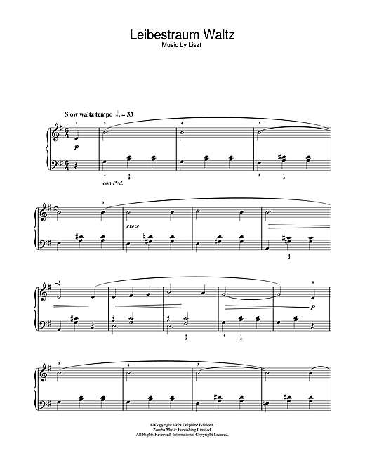 Franz Liszt Liebestraume sheet music notes and chords. Download Printable PDF.