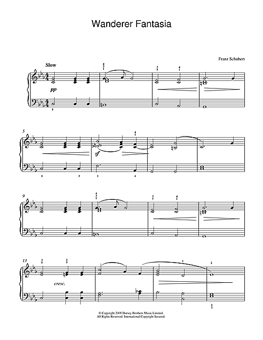 Franz Schubert Wanderer Fantasia sheet music notes and chords. Download Printable PDF.