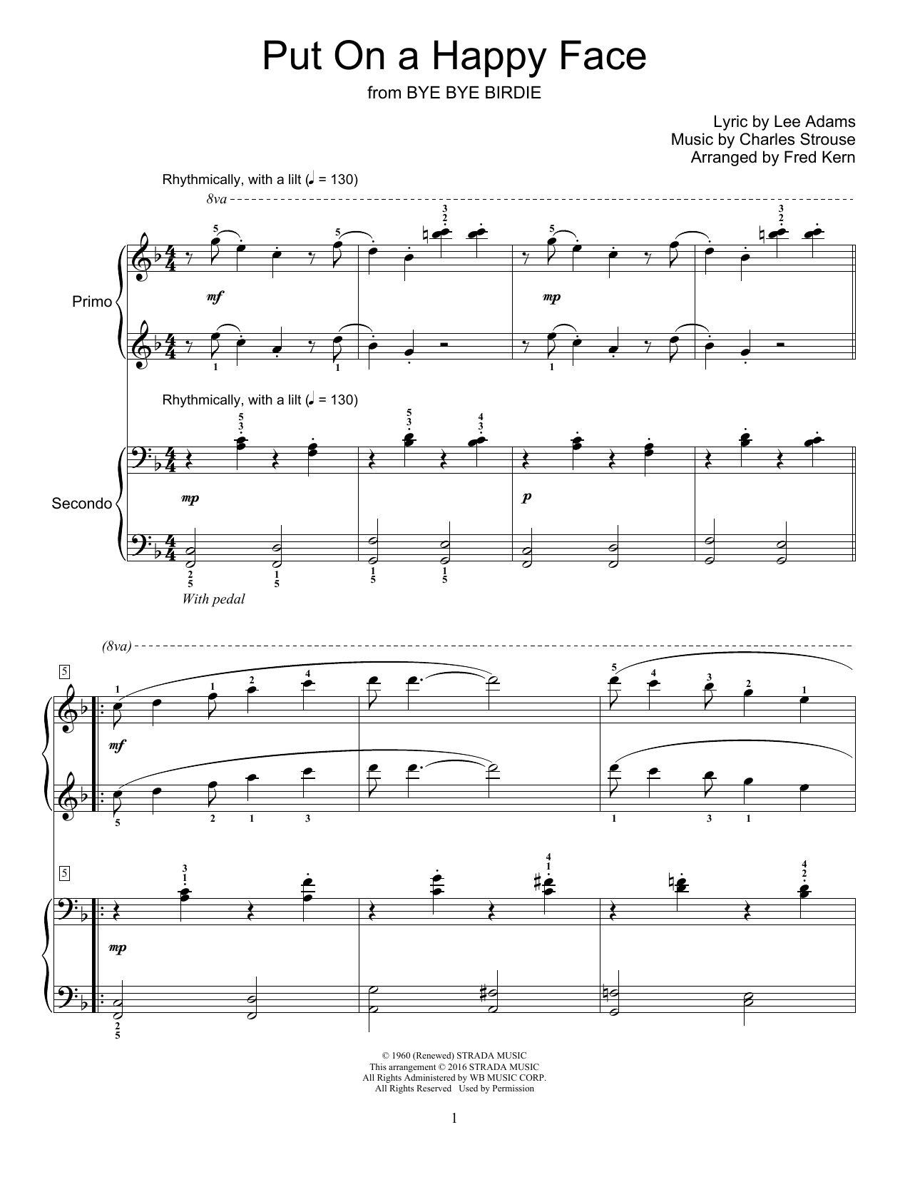 Fred Kern Put On A Happy Face sheet music notes and chords