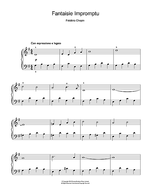 Frederic Chopin Fantaisie Impromptu sheet music notes and chords. Download Printable PDF.