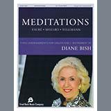 Download Gabriel Faure, Wolfgang Amadeus Mozart and Georg Phillip Telemann 'Meditations (arr. Diane Bish)' Printable PDF 14-page score for Classical / arranged Organ SKU: 430850.