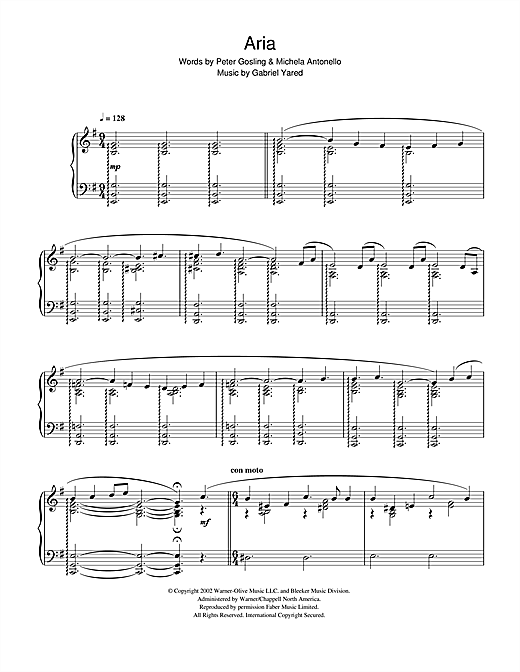 Gabriel Yared Possesso (from Possession) sheet music notes and chords. Download Printable PDF.