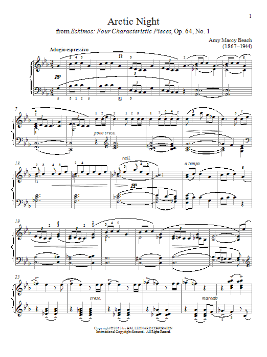 Gail Smith Arctic Night sheet music notes and chords. Download Printable PDF.